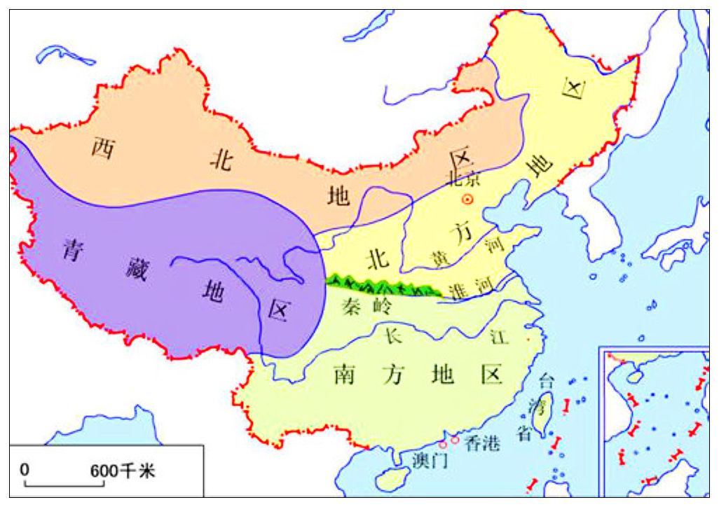 秦岭淮河一线地图